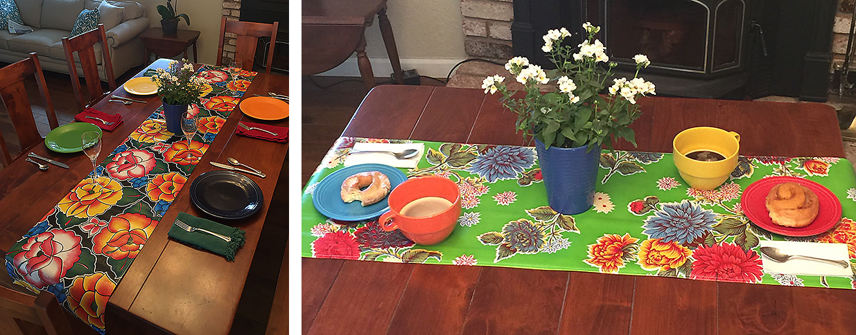 Oilcloth Table Runners
